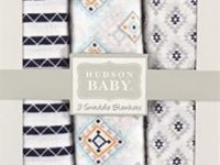 Hudson Baby Unisex Baby Cotton Muslin Swaddle Blankets