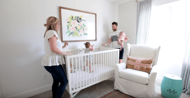 parents sharing small room with baby ideas