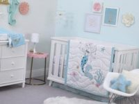 Disney Ariel Sea Princess 3 Piece Crib Bedding Set
