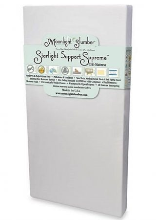 Moonlight Slumber Breathable Dual Sided Baby Crib Mattress